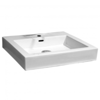 Castano Zola Square Above Counter Basin Bathroom Sink White