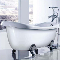 ECT Monarch BT-155 High Back Freestanding Bath Tub with Chrome Claws
