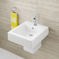 Caroma Liano 649310W Bathroom Wall Hung Vanity Basin 1TH