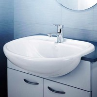 Caroma Caravelle 550 Semi Recessed Bathroom Basin