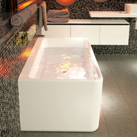 Caroma Cube 1800 CU8WFW Back to Wall Freestanding Bath Tub
