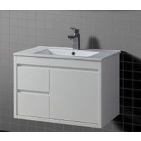 Ostar WD750 Wall Hung Vanity Unit Cabinet China Basin Top White