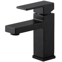 Brasshards Mixx Kubos Basin Mixer Tap Matt Black 11SL160ML