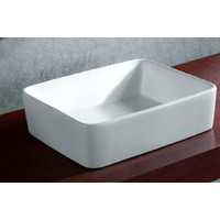 ECT Global Sorrento WB 4737 Above Counter Basin Ceramic Vanity Vessel Sink WHITE
