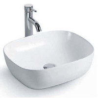ECT Global Romeo WB2142 Above Counter Basin Ceramic Vanity White