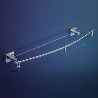 Dorf Enix Glass Shower Shelf Chrome 608mm
