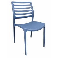 Louise Outdoor Stackable Dining  Chair Blue