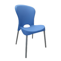 Pipee Stackable Cafe Chair Light Blue