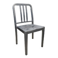 Navy US Emeco Replica Metal Chair - Galvanised Look