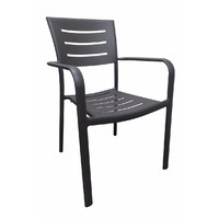 Robert Aluminium Outdoor Chair Dining Chairs Stackable Charcoal