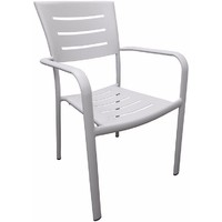 Robert Aluminium Outdoor Chair Dining Chairs Stackable Light Grey