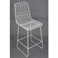 Net Stool Replica Wire Lucy Kitchen Bar High 65cm Matte White
