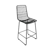 Net Outdoor Stool Replica Bend Wire Lucy Kitchen Bar High 65cm Matt Black