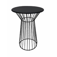 Net Outdoor Table Replica Bend Wire Lucy Bar High 100cm Matt Black