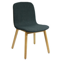 Contour Dining Chair with Padded Seat Visitors Chairs Grey