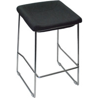 PIPPA BAR STOOL Chrome frame Linen seat 650mm Grey