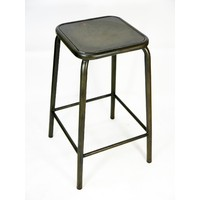 Bean Metal Stackable Retro Bar Stool 640mm Coffee Rust