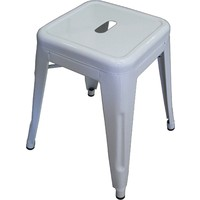 Tolix Xavier Pauchard Replica Metal Stool 460mm White