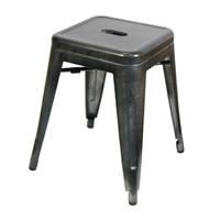 Tolix Xavier Pauchard Replica Metal Stool 460mm Gun Metal