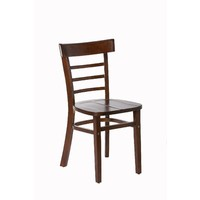 Swan Timber Dining Chair Chocolate