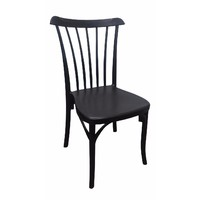 Gozo Outdoor Stackable Dining Chair Black