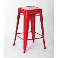 Tolix Xavier Pauchard Replica Metal Stool 660mm Red