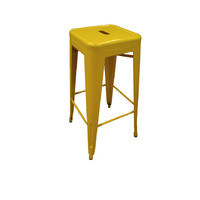 Tolix Xavier Pauchard Replica Metal Stool 750mm Yellow