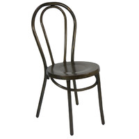 Bentwood Metal No 18 Stackable Dining Chair Replica Thonet Coffee Rust