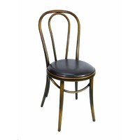 Bentwood Replica Thonet Chair Dining Seating Copper Brown Seat