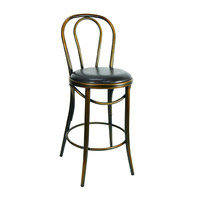 Bentwood Replica Thonet Stool Banquet Bar Seating Copper Brown Seat