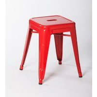 Tolix Xavier Pauchard Replica Metal Stool 460mm Red