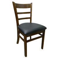 Brumby Timber Dining Chair Vinyl Seat Chocolate
