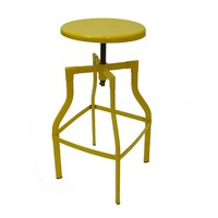 Industry Swivel Metal Bar Stool - Yellow Large