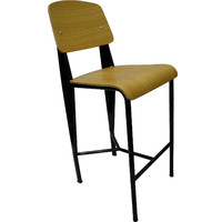 Replica Jean Prouve Standard Bar Stool Black Oak