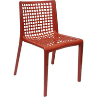 SIMPLE Outdoor Stackable Dining Chairs Red