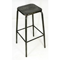 Bean Metal Stackable Retro Bar Stool 750mm Coffee Rust