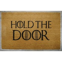 "Game Of Thrones ""Hold The Door"" Heavy Duty Doormat Outdoor GOT 50cm x 80cm"