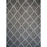Bayliss Rugs Ivy Fog Graphite Hand Woven Wool 160cm x 230cm