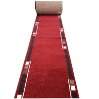Bayliss Rugs Humble HALL RUNNER Polyester 80cm wide Burgundy Red
