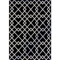 Bayliss Rugs Evolve Black Hand Woven Wool 160cm x 230cm