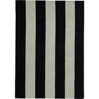 Bayliss Rugs Habitat Black-Off White Hand Woven Wool 160cm x 230cm