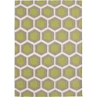 Bayliss Rugs Hive Lime Green Hand Woven Wool 160cm x 230cm