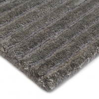 Bayliss Rugs Plaza Metal Grey Wool Art Silk 160cm x 230cm