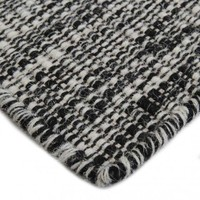 Bayliss Rugs Thames Black & White Wool 160cm x 230cm