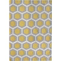 Bayliss Rugs Hive Yellow Hand Woven Wool 160cm x 230cm