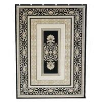 Saray Rugs Traditional Palace Rug 7652 BLACK 160cm x 230cm