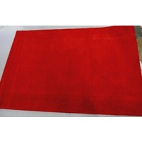 BURNLEY Red Floor Rug 100% WOOL 160 x 230cm