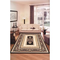 Saray Rugs Traditional Carpet Rug Palace 7652 BLACK 240 x 330cm