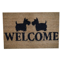 2 Scottie Dogs Heavy Duty Doormat Outdoor 40cm x 60cm