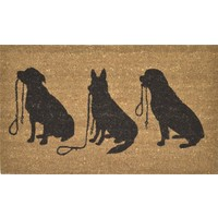 Solemate 3 Dogs Heavy Duty Doormat Outdoor 45cm x 75cm